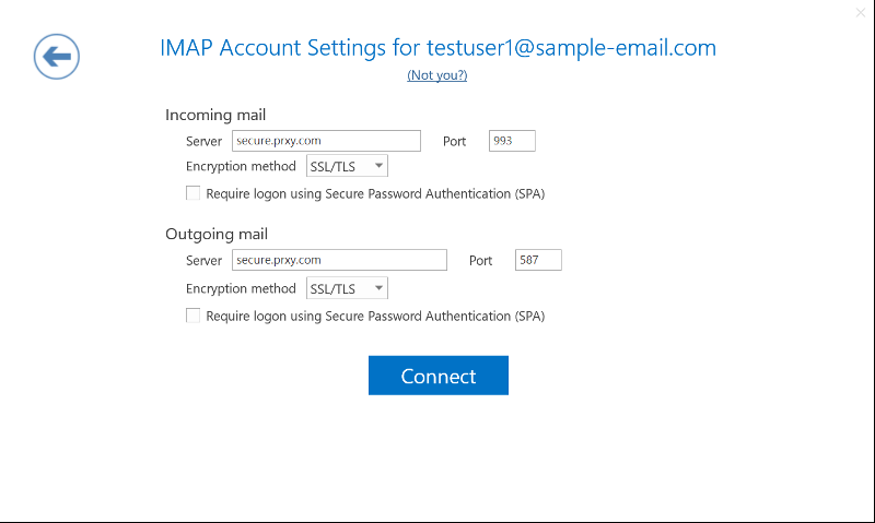Outlook Account Wizard image 3